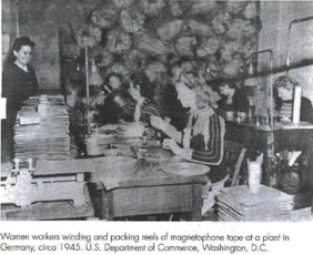Women in 1945 Magnetphon plant winding tape in Germany.jpg