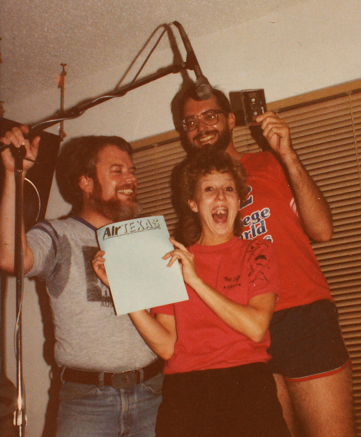 Martin, Libby Lee and Bruce Newlin recording Air Texas radio show