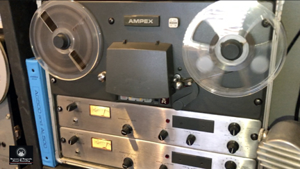 MOMSR Ampex AG500 reel to reel tape recorder being exercised on June 13, 2020