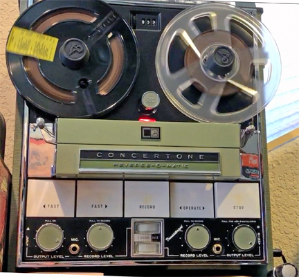 MOMSR Concertone 800 reel to reel tape recorder being exercised on June 13, 2020