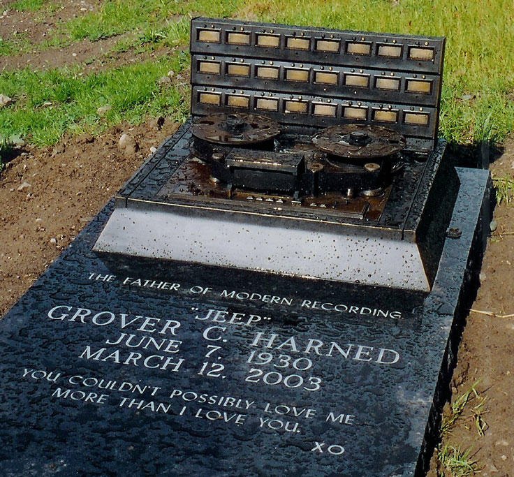 Jeep Harned tape recorder headstone