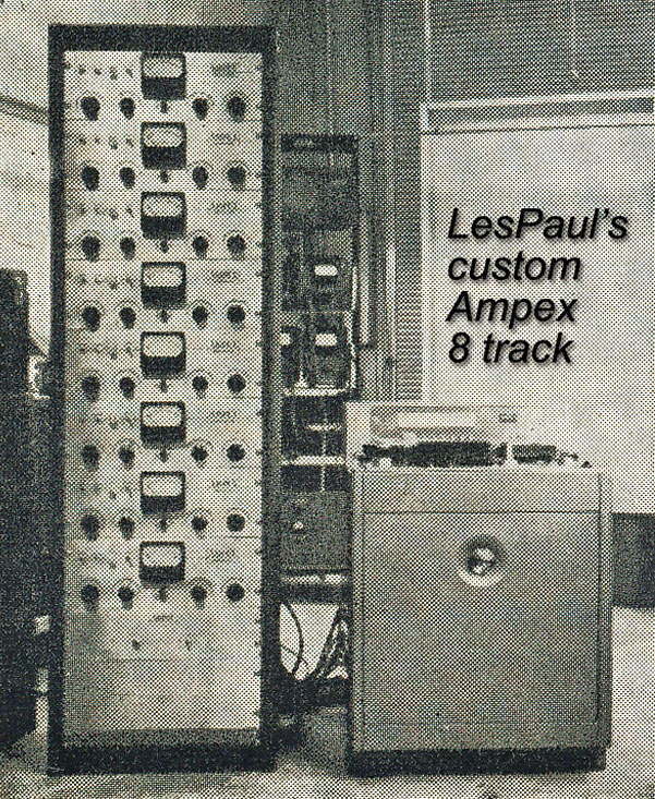 Les Paul's Ampex 8-track called the Octopus