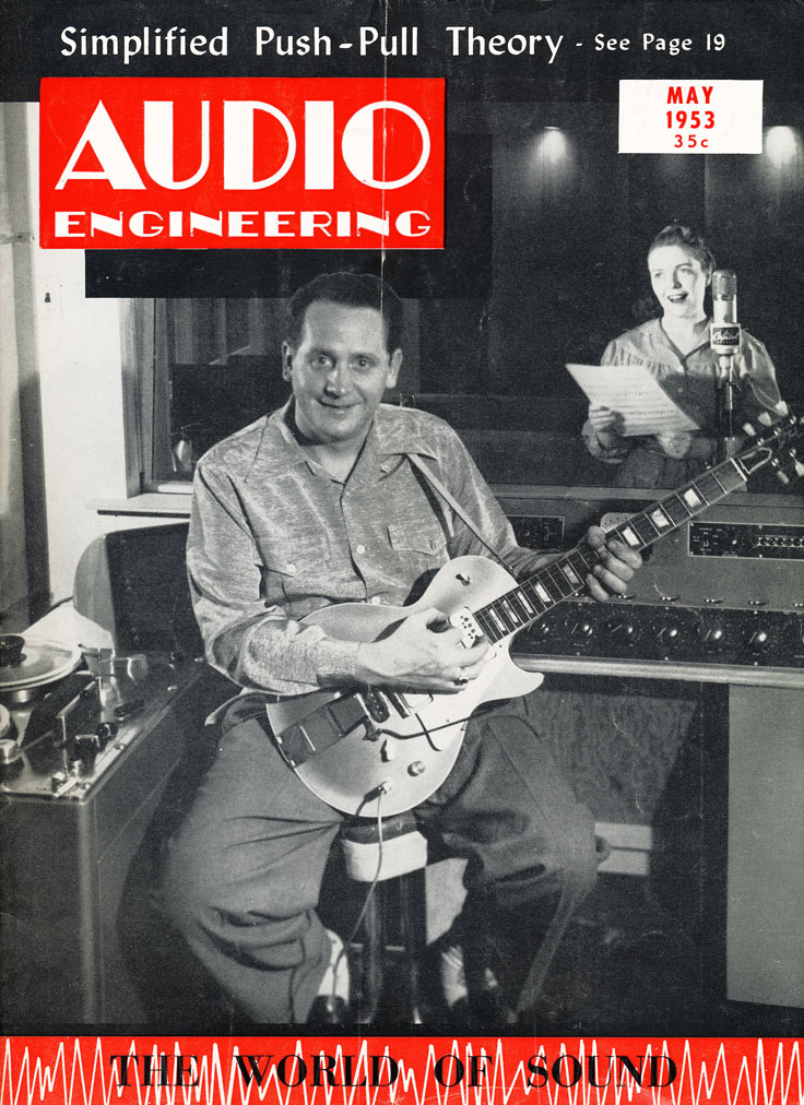 Les Paul and Mary Ford featured on Audio Magazine's cover