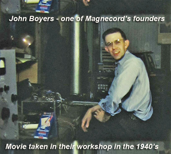 1940s photo of John Boyers one of the founders of Magnecord