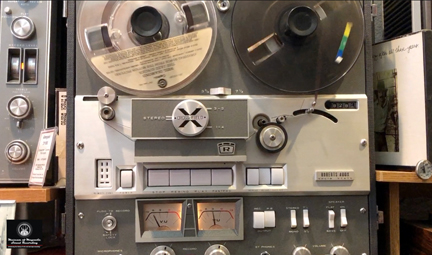 Roberts 400X reel tape recorder in the MOMSR vintage recording collection