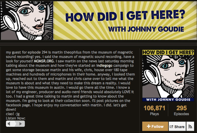 Johnny Goudie - How'd I Get Here interview