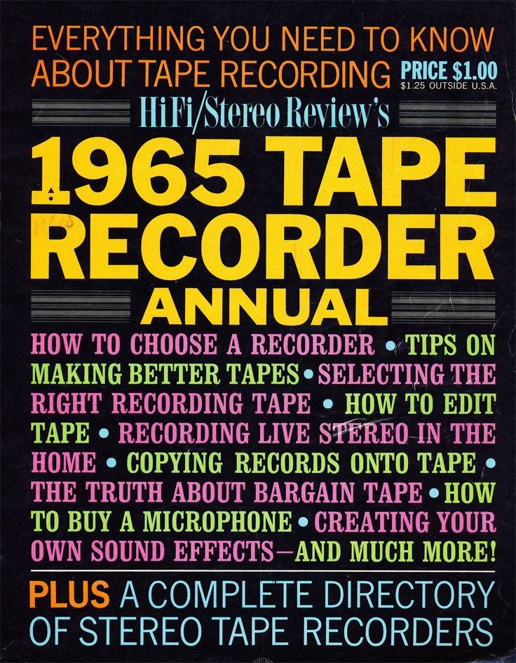 Cover of the 1965 Tape Recorder Annual